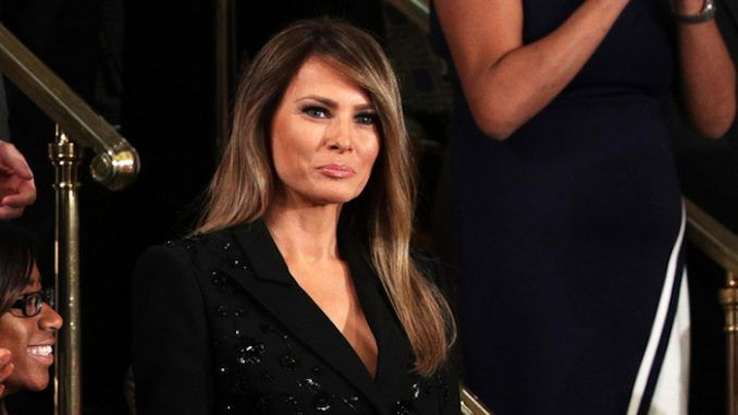 "Melania Trump says feminists should be ""fighting for the rights of oppressed women in Muslim countries"" instead of protesting President Trump."