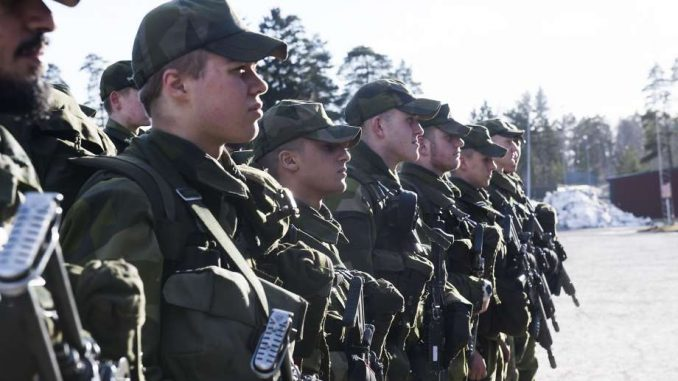 Sweden reintroduced military draft amid fears of a war with Russia