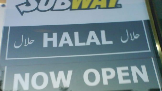 "Fast food giant Subway has removed ham and bacon from menus in 185 stores and switched to halal meat in the UK after ""strong demands"" by Muslims."