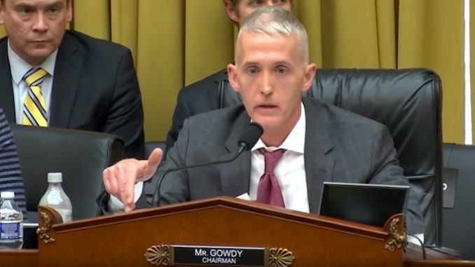 Trey Gowdy put the elite pedophile ring on notice, warning that anyone who interferes with his investigation will be forced to publicly explain why.