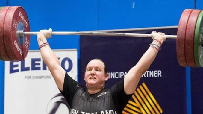 A transgender woman who was a man until a few years ago won her first international women's weightlifting title in Australia on Monday.