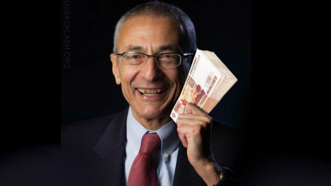 Peter Shcweizer has obtained proof that John Podesta illegally received one billion rubles ($45 million dollars) from Russia.