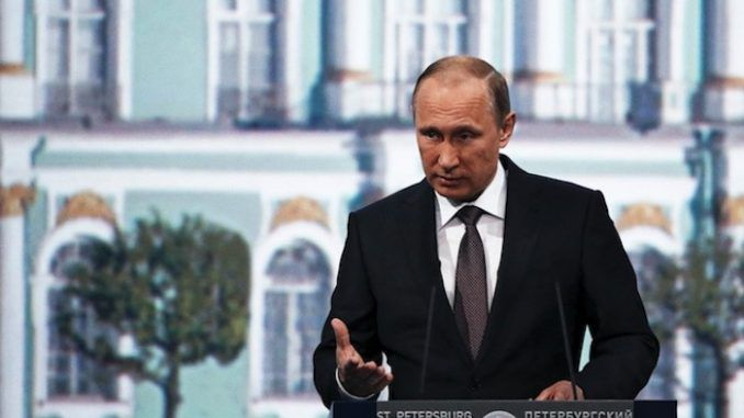 As investigations into the St Petersburg metro terror attack continue, Putin claims '95% of terrorist attacks are orchestrated by the CIA.'