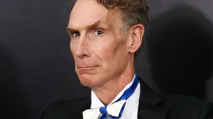 """Bill Nye """"the science guy"""" who claims fluoride, pesticides, GMOs and vaccines are all safe, is now teaching that transgenderism is evolution."""