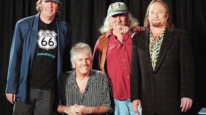 Crosby, Stills, Nash & Young hate each other, but they hate Donald Trump more, so they are getting the band back together to protest him.