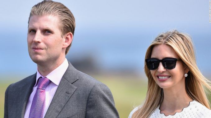 Eric Trump confirmed that President Trump's decision to bomb a Syrian airbase to punish Assad for an alleged chemical weapons attack last week was ordered by his sister Ivanka.