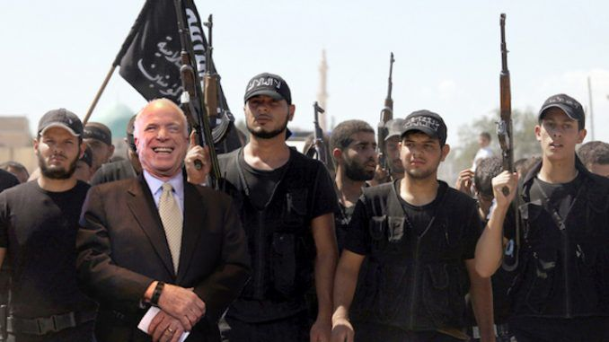 John McCain caught visiting Syria shortly before chemical weapons attack