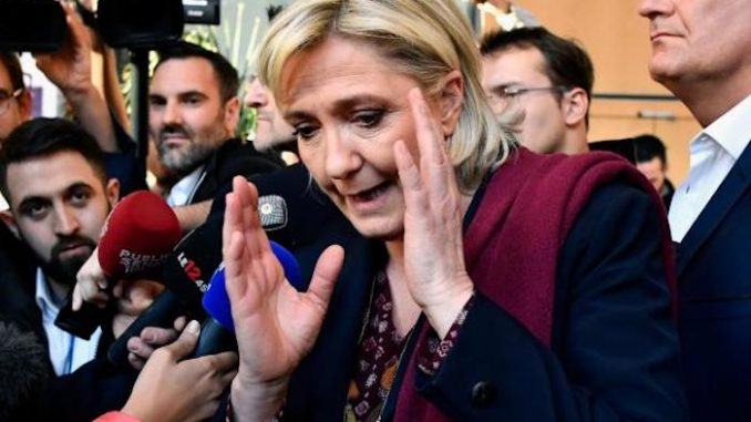 Marine Le Pen campaign HQ firebombed by New World Order arsonists