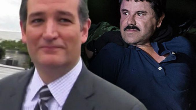 Ted Cruz called for $14 billion seized from Mexican cartel boss El Chapo to be used to fund Trump's border wall.