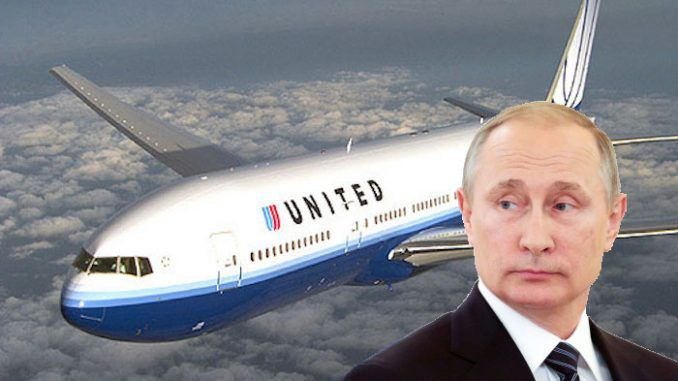 Vladimir Putin bans United Airlines from Russian airspace