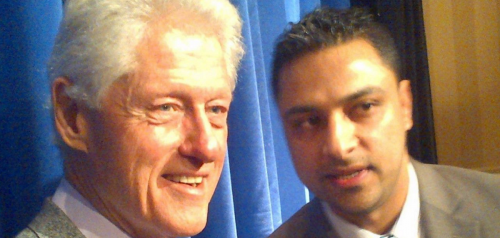 Imran Awan seen with Bill Clinton