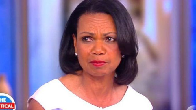 Condoleeza Rice put the Hollywood celebrities on The View in their place, smacking them down for suggesting President Trump is illegitimate.