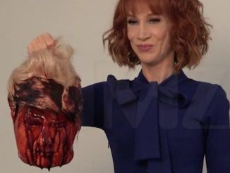 Kathy Griffin heads President Trump
