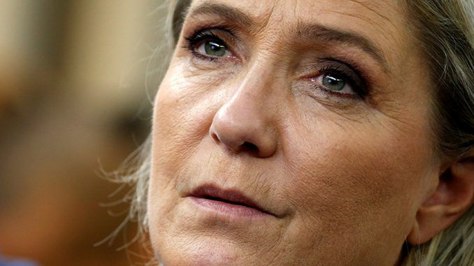 "Marine Le Pen told supporters she will fight the New World Order ""until my heart stops beating,"" promising them that ""the war is not over."""