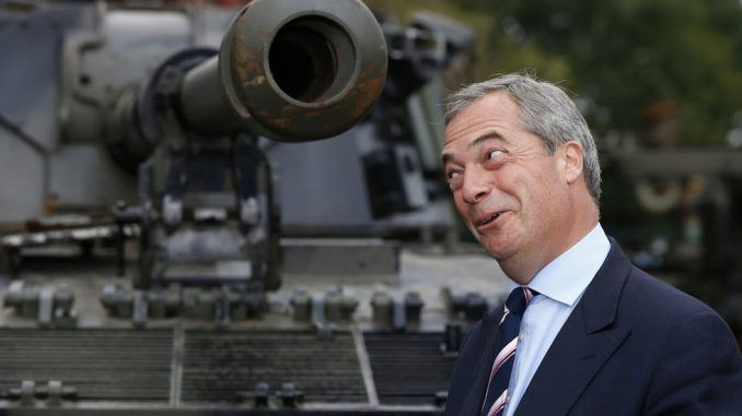 Nigel Farage warns of armed revolution in case Brexit is cancelled