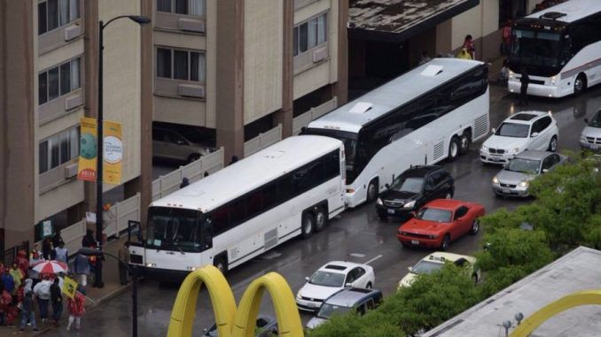 George Soros caught sending busloads of protestors to Chicago