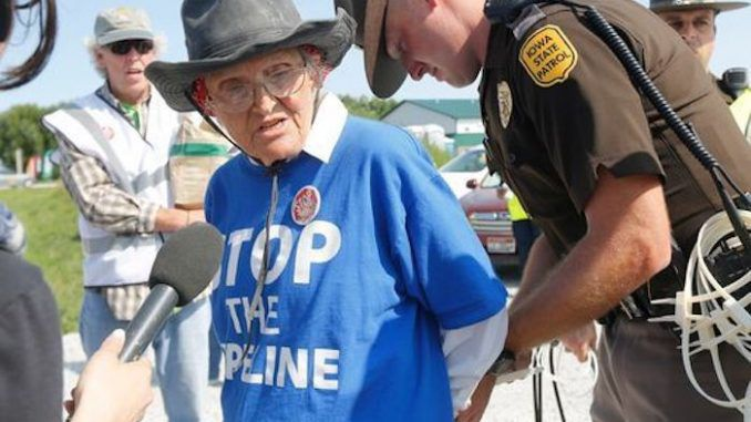 Big oil can now arrest protestors on their own property