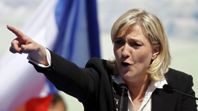 French presidential candidate Marine Le Pen has vowed to regain national sovereignty by pulling France out of the eurozone, bringing back the French Franc, and debarring the Rothschild cartel.
