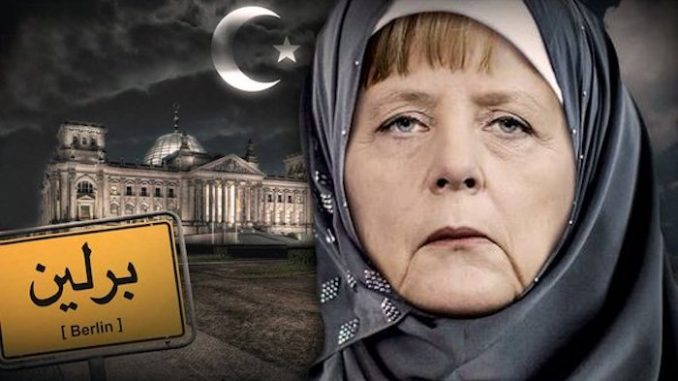 Chancellor Angela Merkel blasted Germans for failing to understand how Muslim immigration has changed their country and told them they will have to come to terms with more mosques than churches.