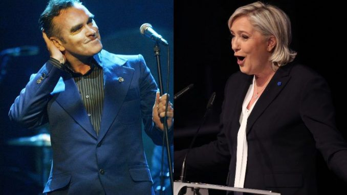 British singer Morrissey claims Marine Le Pen has won, but media is covering it up