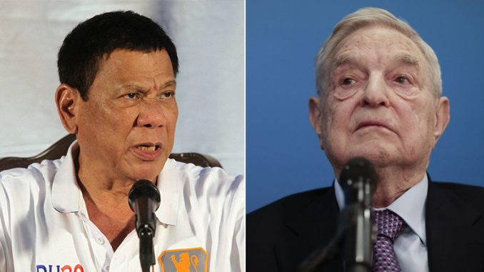"George Soros cancelled a visit to the Philippines after President Duterte warned him ""there is a bounty on your head in these islands."""