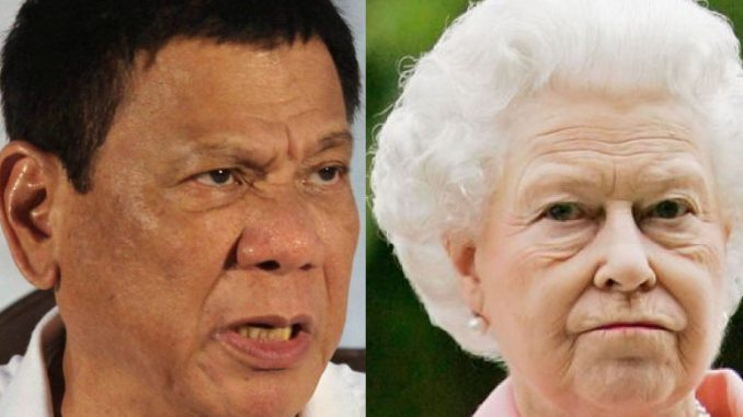 "President Duterte issued a scathing attack on Queen Elizabeth and the Royal Family, accusing her of ""killing people"" and being ""the head of a mafia family."""
