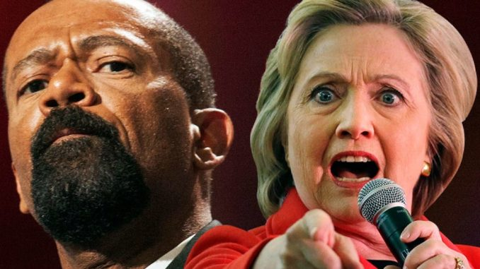 Sheriff Clarke has vowed to arrest Hillary Clinton on the spot if President Trump makes him the next FBI Director.