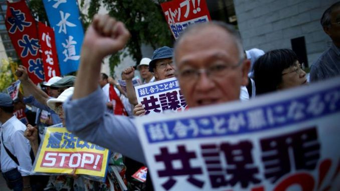 Citizens take to the streets of Japan to protest new thought crime bill