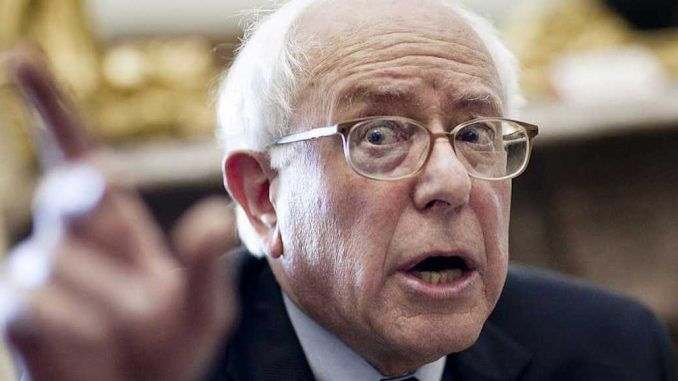 Senator Bernie Sanders vows to knock down and rebuild the corrupt Democrat party