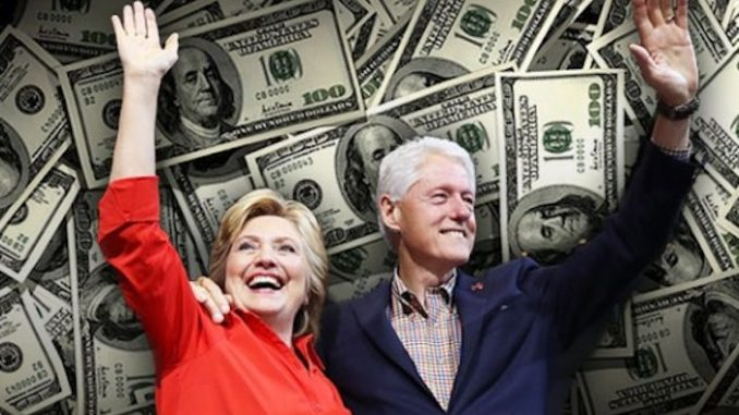 Image result for Bill and Hillary laughing money