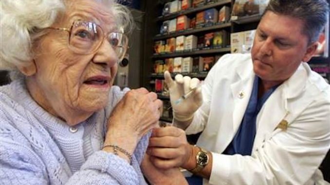 Flu vaccine is completely ineffective on elderly people over 65 years old
