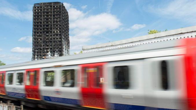 Parts of the London Underground suspended amid fears of imminent Grenfell Tower collapse