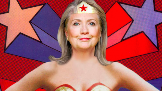 Hillary Clinton has gone on record comparing herself to DC Comics superhero Wonder Woman, leaving witnesses stunned.