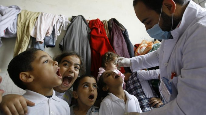 Polio outbreak in syria caused by oral polio vaccine