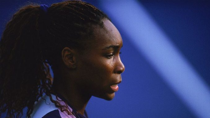 Venus Williams on the run