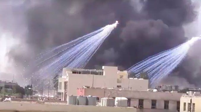 US caught using white phosphorus in Syria, ready to blame on Assad