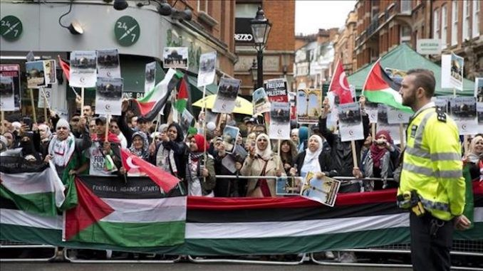 Thousands take to the streets to protest Israel in Britain