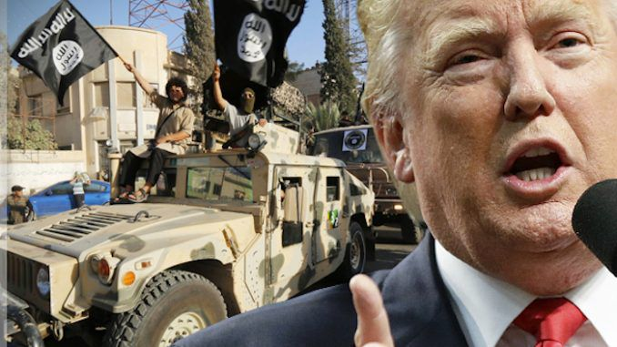 President Trump agrees to reverse US policy of funding and arming ISIS - media blackout