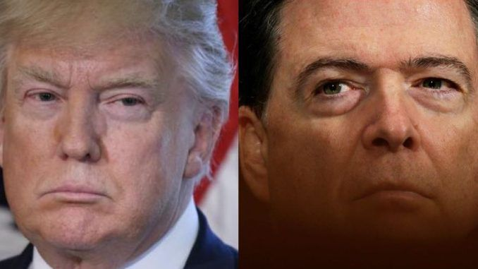 """President Trump has slammed James Comey for leaking classified information to the media, describing his actions as """"so illegal""""."""