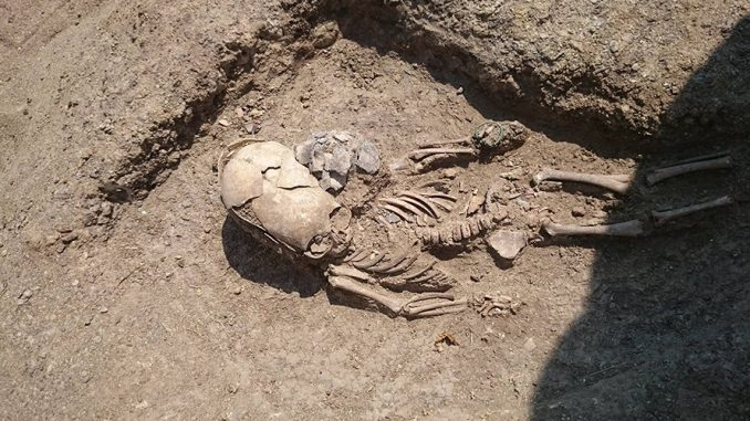 Remains of an alien child skeleton unearthed in Crimea
