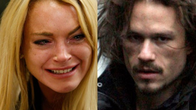 """Heath Ledger was murdered according to Lindsay Lohan, who says he became a problem for """"the pedophiles at the top of the Hollywood pyramid."""""""