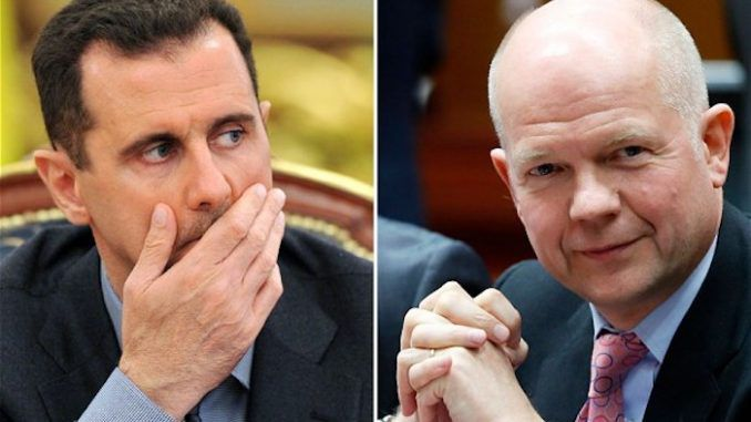 Former British Minister William Hague says UK government supports ISIS in order to oust Assad