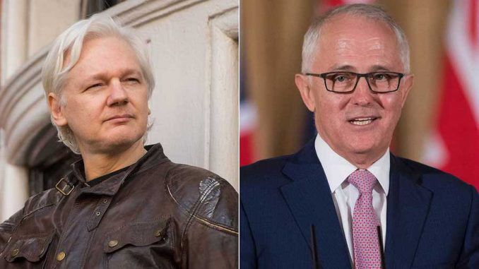 Australian PM Malcolm Turnbull has slammed the previous government for falsely claiming Julian Assange is a criminal who has broken laws.