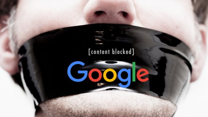 Google now actively trying to block Conservatives, libertarians, independent media outlets from its search engine