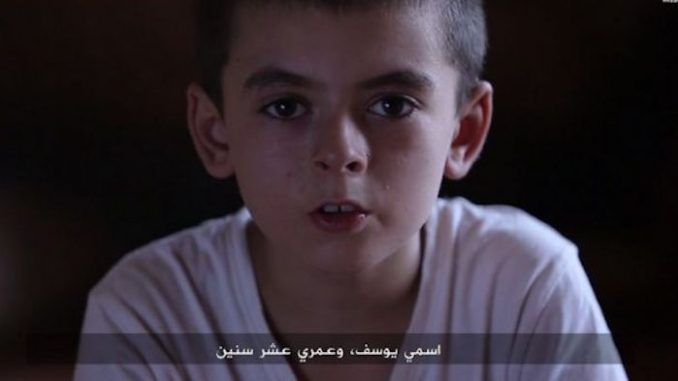 ISIS video features 10 year old American kid threatening to destroy Trump