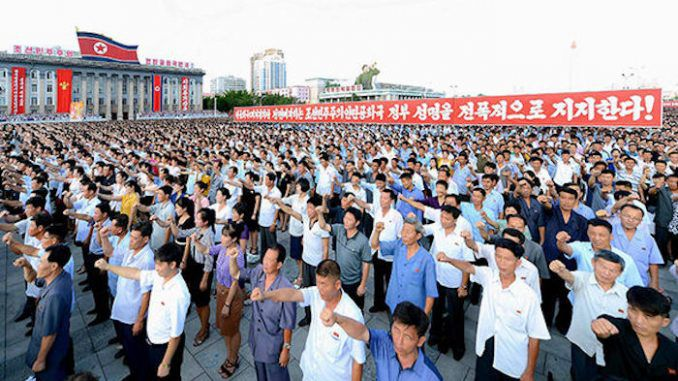 North Koreans sign up to become human bombs