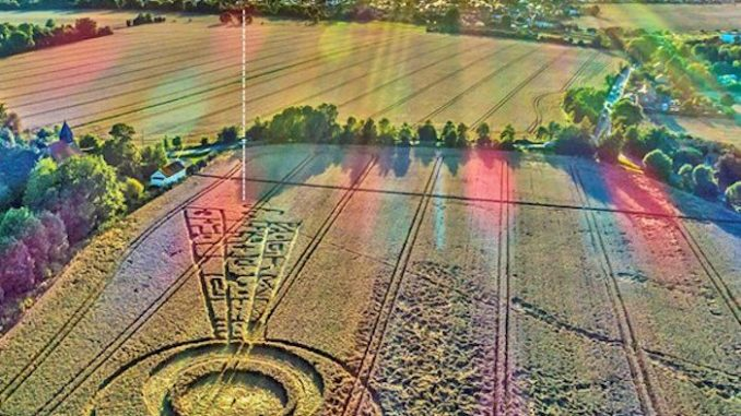 Crop circle appears days before August eclipse