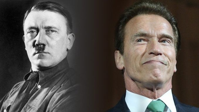 Arnold Schwarzenegger, who has been attempting to smear Trump supporters as Nazis, has been forced to admit that he once praised Hitler.
