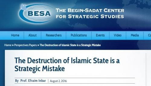 """A policy paper published by an influential Israeli think tank which contracts with NATO argues that ISIS is a """"useful tool"""" for Israel's strategic defense."""