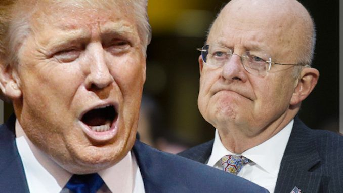 James Clapper says that Trump is about to quit